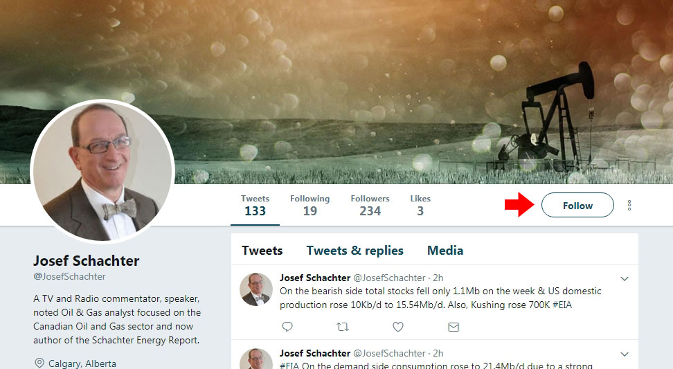 How can I follow Josef on Twitter?